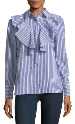The Fifth Label Lightfast Parcel Striped Button-Down Shirt