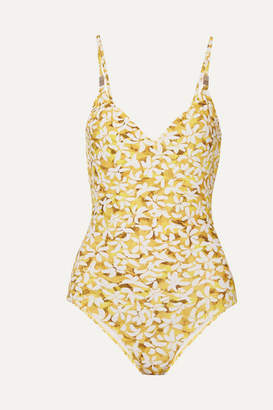 b121402f58 Marios Schwab On The Island By Asterias Floral-print Swimsuit - Yellow