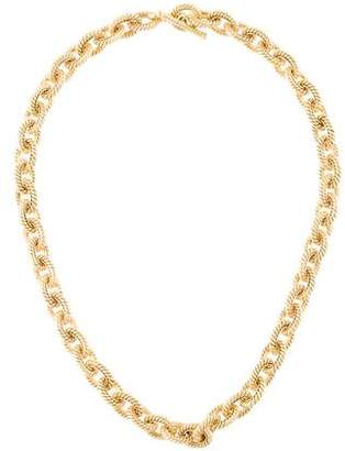 Tiffany & Co. 18K Twisted Oval Link Toggle Necklace