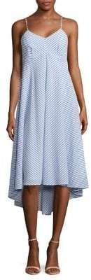 Taylor Striped High-Low Dress
