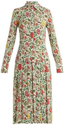 DAY Birger et Mikkelsen LA DOUBLE J Chemisier floral-print pleated shirtdress