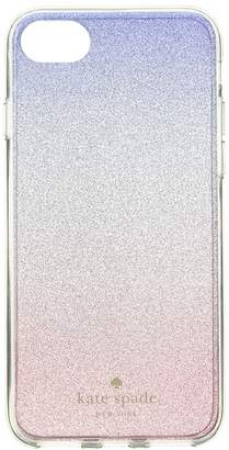 Kate Spade Sunset Glitter Ombre Phone Case for iPhone 8 Cell Phone Case