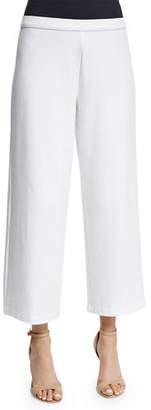 Joan Vass Easy Wide-Leg Ankle Pants, Petite