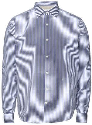 Closed Cotton Striped Spread Collar Shirt