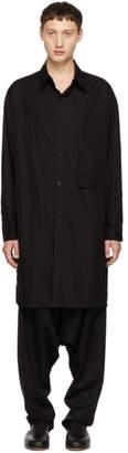Yohji Yamamoto Black Chain Long Shirt
