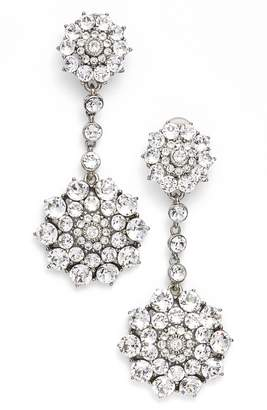 At Nordstrom Oscar De La A Clic Jeweled Swarovski Crystal Drop Earrings