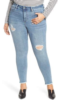 48f8df72059 Max Studio MAXSTUDIO Indigo Perfect Vintage Core Ripped High Waist Skinny  Jeans