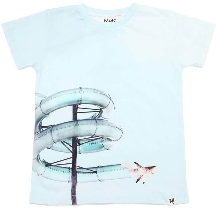Shark Printed Cotton Jersey T-Shirt