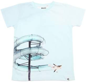 Molo Shark Printed Cotton Jersey T-Shirt