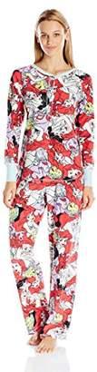 Disney Women's Princess Micro-Fleece Pajama Set $5.92 thestylecure.com