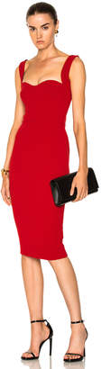Victoria Beckham Matte Crepe Curve Cami Fitted Dress