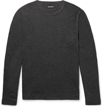 Tom Ford Slim-Fit Mélange Cotton and Cashmere-Blend T-Shirt