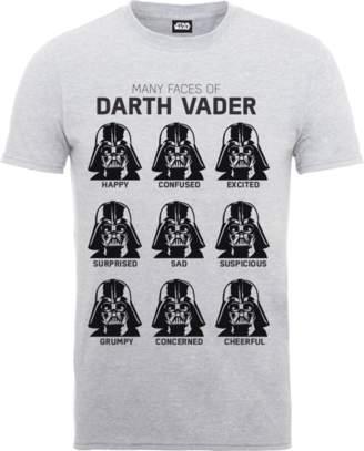 Star Wars Many Faces Of Darth Vader T-Shirt