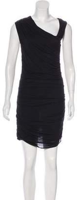 Helmut Lang Ruched Knee-Length Dress