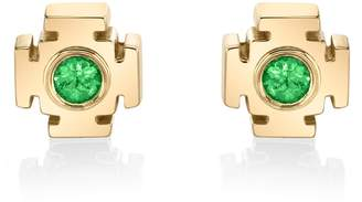 Ark Emerald Gateway Stud Earrings