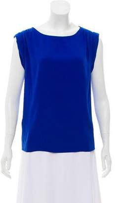 Alice + Olivia Short Sleeve Silk Top