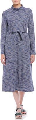 A.P.C. (アー ペー セー) - A.P.C. リボンベルト付 タートルネック 長袖ドレス ブルーマルチ s