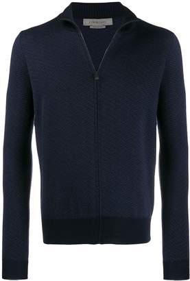 Corneliani knit zipped jacket