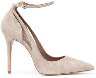 Reiss MARLA SUEDE ANKLE-STRAP SHOES Nude
