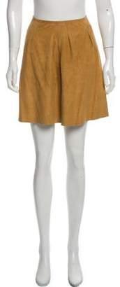 Miu Miu Leather Mini Skirt Tan Leather Mini Skirt