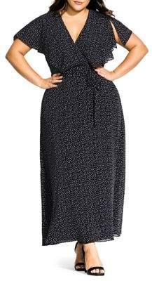 City Chic Plus Flirty Pin Spot Dress