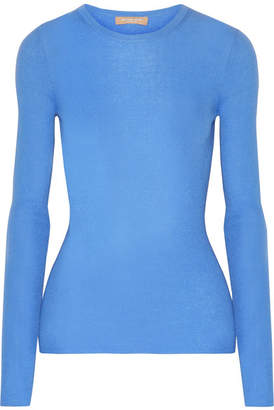Michael Kors Collection - Ribbed Cashmere Sweater - Blue $595 thestylecure.com