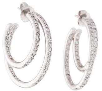 Honora 14K Diamond Double Hoop Earrings
