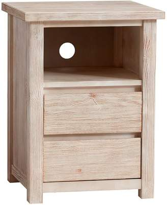 Pottery Barn Teen Costa Bedside Table, Weathered White, UPS
