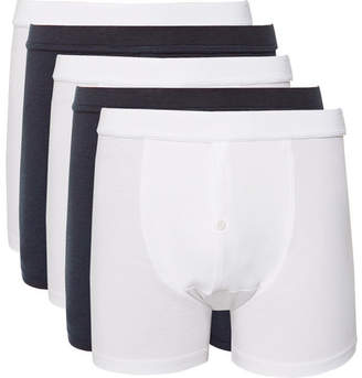 Hamilton and Hare Five-Pack Stretch-Jersey Boxer Briefs