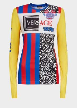 Versace 90s Logo Long Sleeve Team T-Shirt