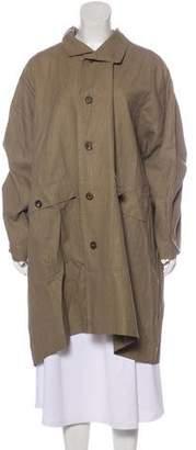 eskandar Linen-Blend Oversize Coat
