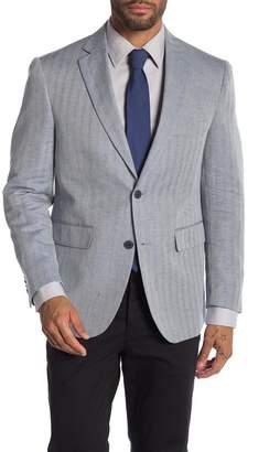 Louis Raphael Navy Two Button Notch Lapel Tailored Slim Fit Blazer