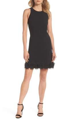 Julia Jordan Sleeveless Lace Hem Sheath Dress