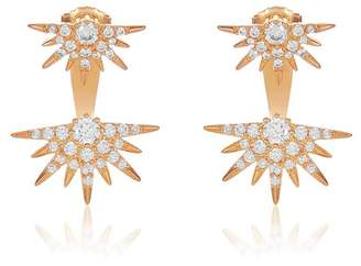Melinda Maria Barrie CZ Spike Jacket Earrings
