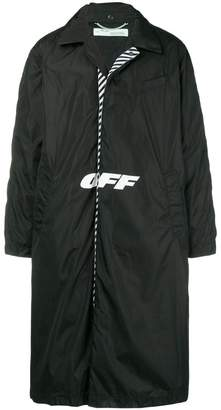 Off-White logo padded coat