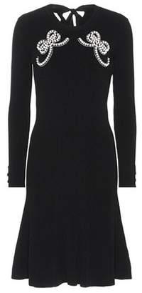 Fendi Embellished knit dress