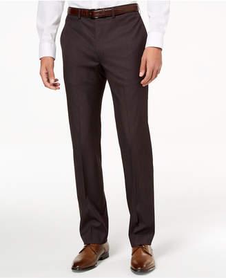 Calvin Klein Men's Slim-Fit Stretch Plum Neat Dress Pants