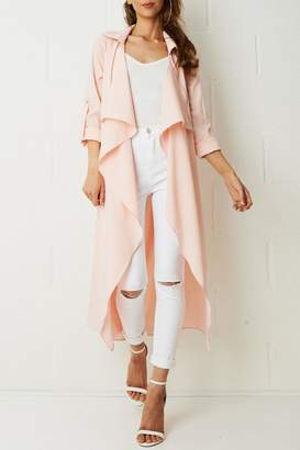 Frontrow Pink Waterfall Coat