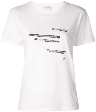 Saint Laurent text print T-shirt