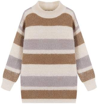 Goodnight Macaroon 'Daria' Color Block Fluffy Sweater (2 Colors)