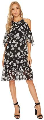 Kensie Floral Off Shoulder Halter Dress KS9K9680 Women's Dress
