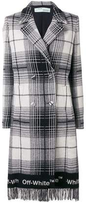 Off-White double-breasted checked coat