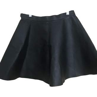 American Apparel Black Leather Skirt for Women