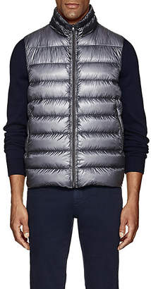 Herno Men's Down-Quilted Ripstop Vest - Gray