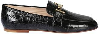 Tod's Varnished Patterned Loafers