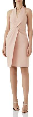 Reiss Yuma Twist-Front Halter Dress