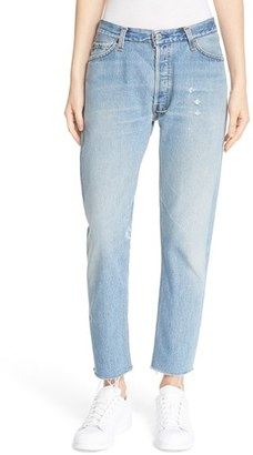 Women's Re/done 'The Relaxed Crop' Reconstructed Jeans $305 thestylecure.com