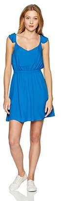 Jack by BB Dakota Junior's Annalise Solid Flutter Sleeve Open Back Dress