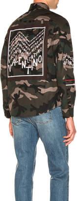 Valentino Shirt Jacket in Camo   FWRD