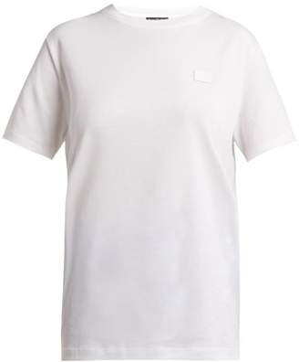 Acne Studios Nash Face Cotton Jersey T Shirt - Womens - White